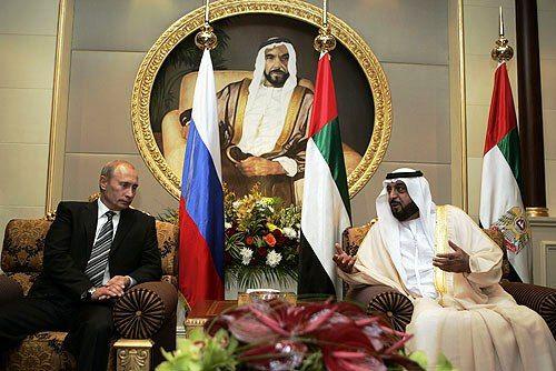 Встреча Владимира Путина и Шейха Халифы