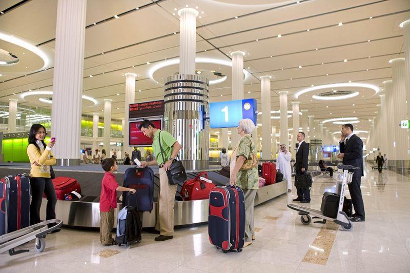 Получение багажа в Дубае (3 терминал)