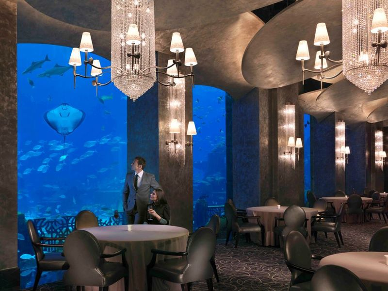 Ресторан Ossiano в отеле Atlantis, The Palm 5*