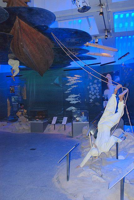 Экспозиция в Дубайском музее, посвященная ловле жемчуга
