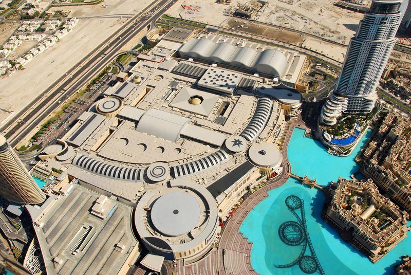 Дубай Молл - вид сверху