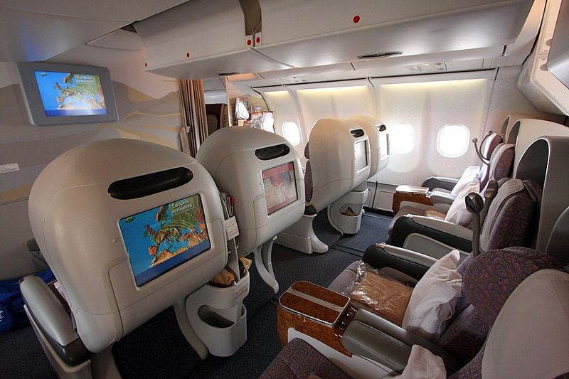 Салон бизнес-класса Emirates
