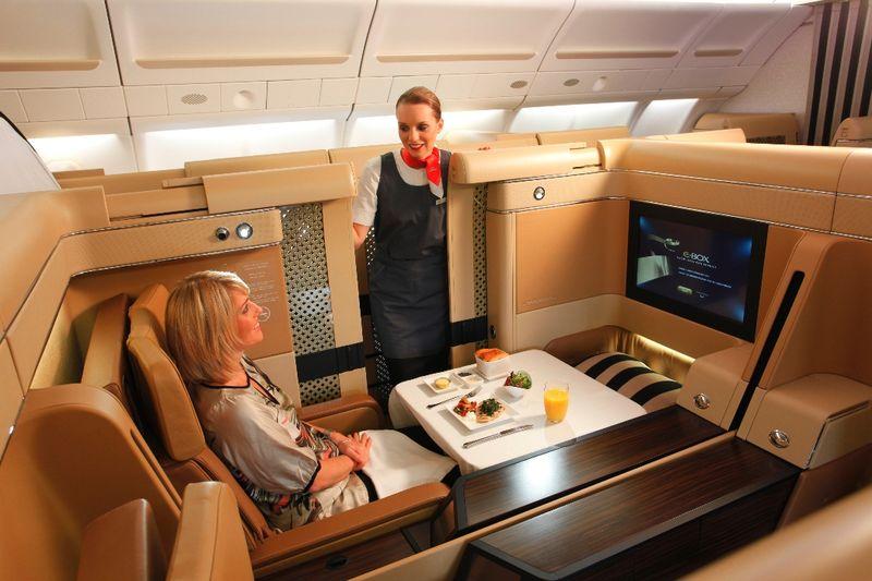 Первый класс Etihad Airways