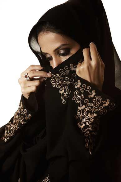 Арабская женщина в абайе