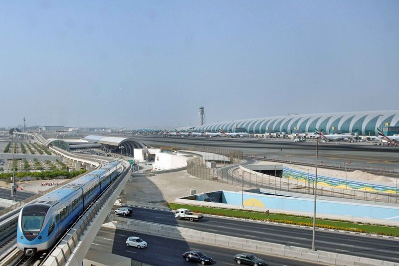 На подъезде к Терминалу 3 аэропорта Дубая