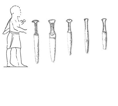 Жители Маки в коротких одеждах с мечами